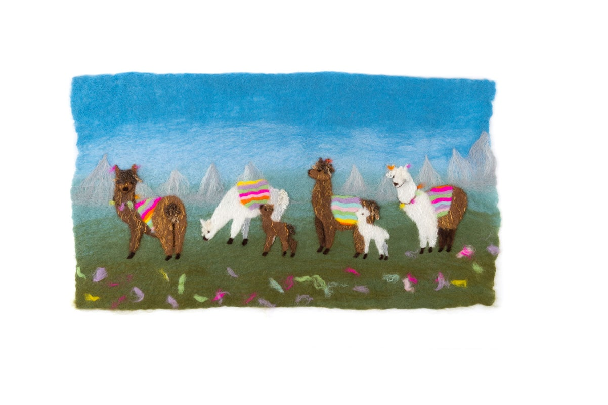 Llama Picture Felt Making Kit £21